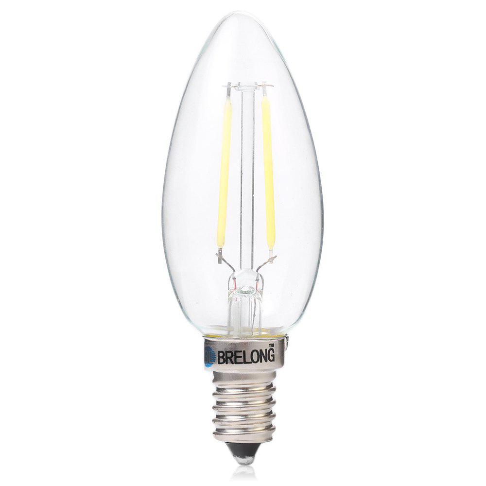 BRELONG E14 2W COB 200Lm Ampoule à LED en Bougie Dimmable