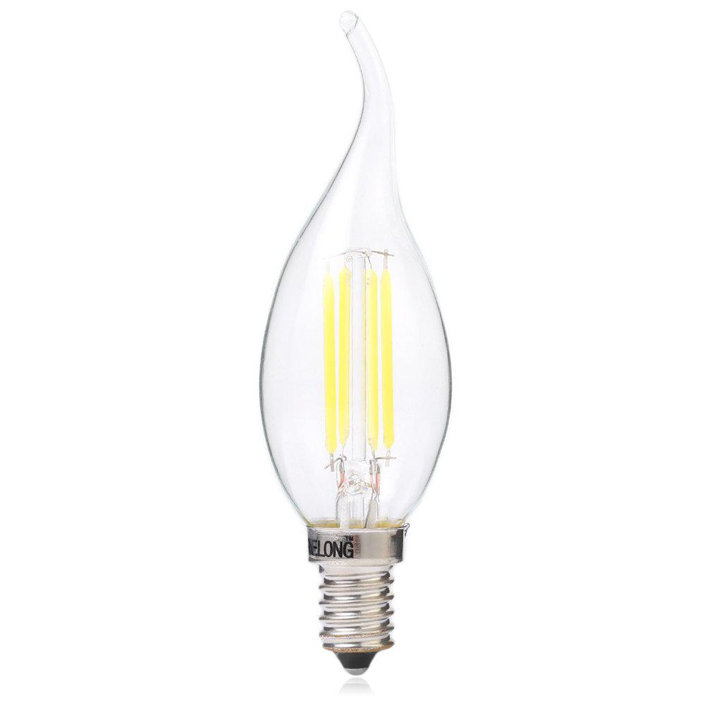 BRELONG E14 4W COB 400Lm LED Filamento Lampadina Dimming