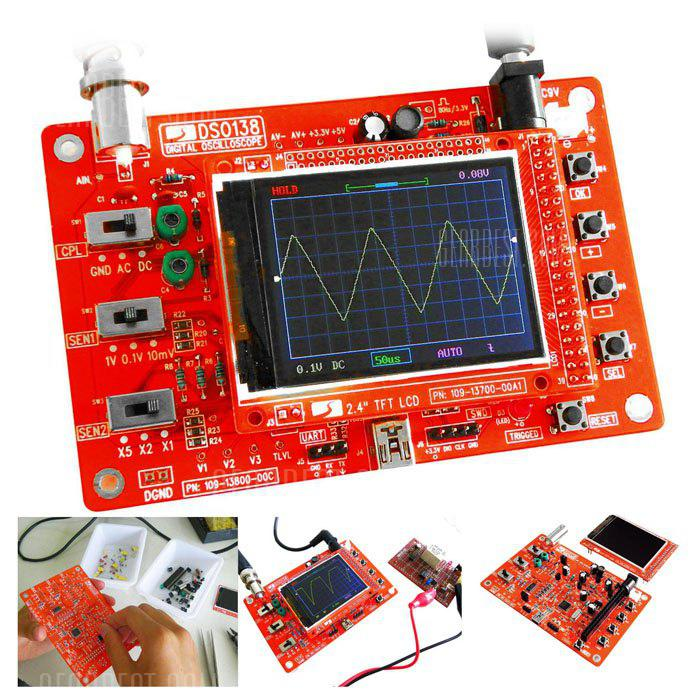 DSO138 DIY Digital Oscilloscope Kit