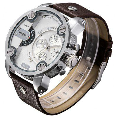 CAGARNY 6818 Fashion Decorative Sub-dial Men Quartz Watch