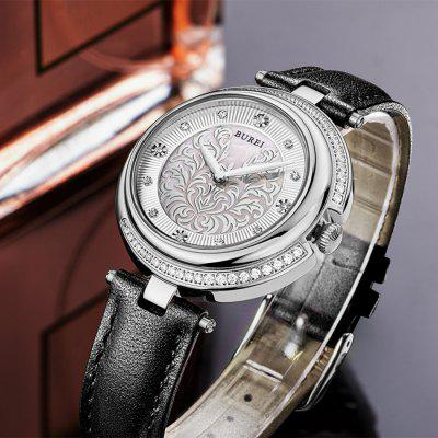 BUREI Ultra-thin Diamond Dial Fashion Women Quartz Watch