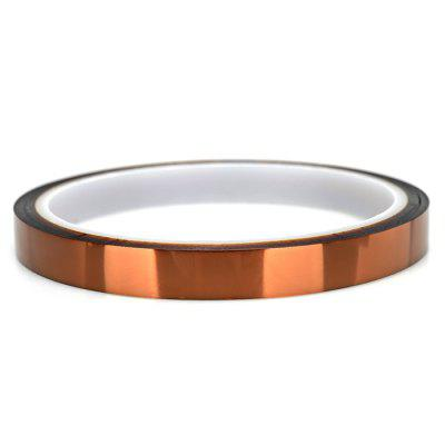 Polyimide Tape 6mm 33m3D Printer Supplies<br>Polyimide Tape 6mm 33m<br><br>Color: Brown<br>Diameter: 6mm<br>Function: High-temperature Adhesive Tape<br>Length: 33m<br>Material: Polyimide<br>Package Contents: 1 x High-temperature Resistant Polyimide Tape<br>Package size: 18.00 x 11.90 x 1.60 cm / 7.09 x 4.69 x 0.63 inches<br>Package weight: 0.0320 kg<br>Product size: 9.40 x 9.40 x 0.60 cm / 3.7 x 3.7 x 0.24 inches<br>Product weight: 0.0150 kg<br>Quantity: 1<br>Special features: Heat Resistant