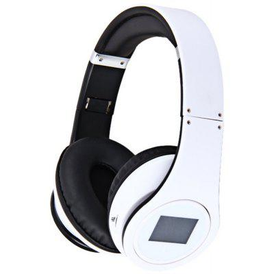 BQ-508 Fashion Compact Design Wireless Headset Sports MP3 Player with Electronic Screen (White)