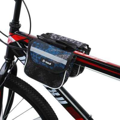 B - SOUL YA049 Bicycle Printed Frame Pannier Bag