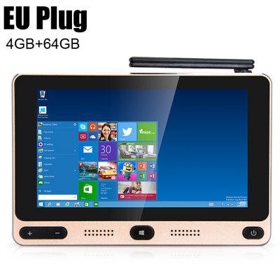 HIGOLE GOLE1 5 inch 720 x 1280 Mini PC Windows 10 / Android 5.1Mini PC<br>HIGOLE GOLE1 5 inch 720 x 1280 Mini PC Windows 10 / Android 5.1<br><br>Audio format: OGG, AAC, WMA, WAV, RM, FLAC<br>Bluetooth: Bluetooth4.0<br>Brand: HIGOLE<br>Color: Golden<br>Core: Quad Core, 1.84GHz<br>CPU: Intel Cherry Trail Z8350<br>GPU: Gen 8 Graphics<br>Interface: DC Power Port, 3.5mm Audio, Ethernet, HDMI, Micro USB, TF card, USB2.0, USB3.0<br>Language: Multi-language<br>Model: GOLE1<br>Package Contents: 1 x Mini PC, 1 x HDMI Cable, 1 x Power Adapter, 1 x English Manual<br>Package size (L x W x H): 16.50 x 16.50 x 6.50 cm / 6.5 x 6.5 x 2.56 inches<br>Package weight: 0.7800 kg<br>Photo Format: BMP, JPEG, JPG, PNG, TIFF, GIF<br>Power Adapter Output: 5V 3A<br>Power Input Vol: 5V<br>Power Supply: Charge Adapter<br>Power Type: External Power Adapter Mode<br>Product size (L x W x H): 13.50 x 9.00 x 2.00 cm / 5.31 x 3.54 x 0.79 inches<br>Product weight: 0.2000 kg<br>RAM: 4G<br>ROM: 64G<br>System: Android 5.1,Windows 10<br>System Bit: 64Bit<br>Type: Mini PC<br>Video format: RM, RMVB, MPEG-4, WMV, MPG, MPEG-1, MOV, MPEG2<br>WIFI: 802.11 b/g/n/ac