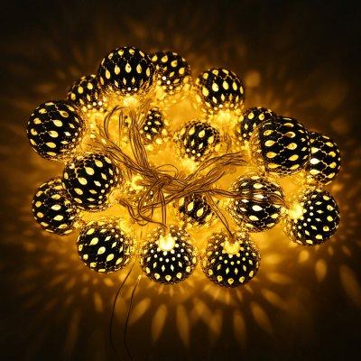 BRELONG Hollowing Ball LED String Light