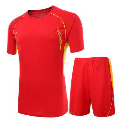 Soccer Red T Shirt Set