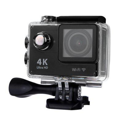 Gearbest H9 Ultra HD 4K Action Camera-  US PLUG  BLACK