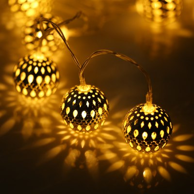 BRELONG Metal Ball LED String Light