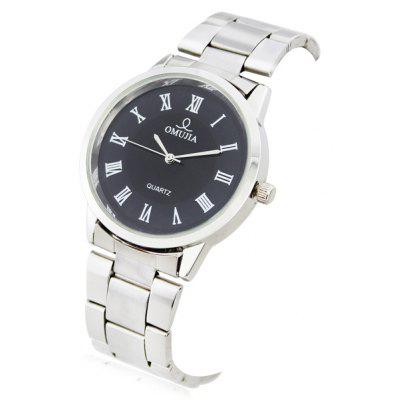 OMUJIA Men Watch with Quartz Round Dial Steel Wristband