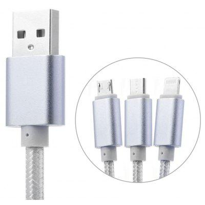 3-in-1 1.2m USB Charge Cable