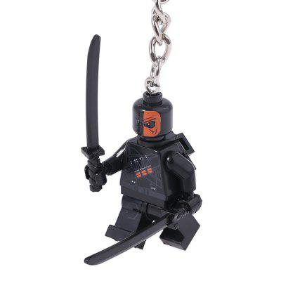 Keyring Soldier Model Pendant Decoration Plastic Key Chain