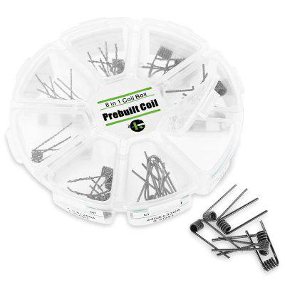 Kuken Tech 48pcs 8 in 1 Kanthal Prebuilt Heating Wire
