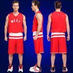 cheap Men Breathable Sleeveless Basketball Suit for Exercising