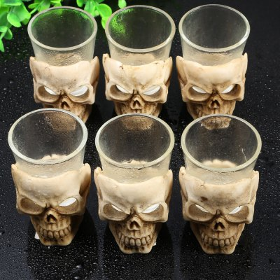 6PCS Skull Shape Vodka Liqueur Wine Glass