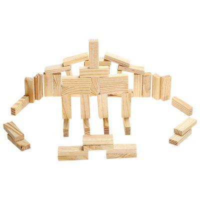 Pile Stacked High Brick Game Toy For Spatial Imagination 4040 Delectable Wooden Bricks Game