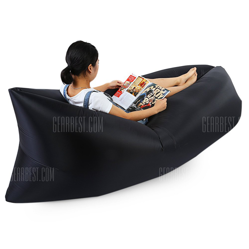 Gearbest Inflatable Nylon Sleeping Sofa - BLACK