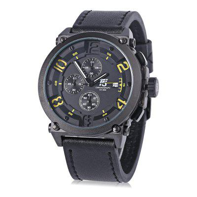 T5 H3434G Casual Working Sub-dial 3ATM Men Quartz Watch