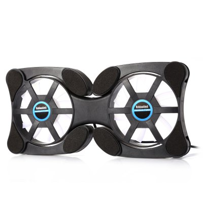 Foldable Dual-USB Dual Fan Cooler Cooling PadLaptop Cooling Pads<br>Foldable Dual-USB Dual Fan Cooler Cooling Pad<br><br>Compatible Brand: Universal<br>Fan Diameter: 70mm<br>Material: ABS<br>Number of Fans: 2<br>Package Contents: 1 x Foldable Dual-USB Dual Fan Cooler<br>Package size: 23.00 x 14.50 x 5.00 cm / 9.06 x 5.71 x 1.97 inches<br>Package weight: 0.126 kg<br>Powered by: USB<br>Product size: 19.00 x 9.00 x 1.50 cm / 7.48 x 3.54 x 0.59 inches<br>Product weight: 0.096 kg<br>RPM: 1200 Plus or Minus 10