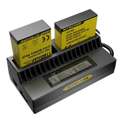 Nitecore UGP4 Smart USB Battery ChargerChargers<br>Nitecore UGP4 Smart USB Battery Charger<br><br>Brand: Nitecore<br>Charging Cell Qty: 2<br>Charging Cell Type: Lithium Ion<br>Circuit Detection: Yes<br>Input Voltage: DC 5V<br>LCD Screen: Yes<br>Model: UGP4<br>Output Voltage: 4.2V / 4.35V + / - 1pct / 5V<br>Over Charging Protection: Yes<br>Over Voltage Protection: Yes<br>Package Contents: 1 x Nitecore UGP4 Battery Charger<br>Package size (L x W x H): 10.50 x 6.50 x 5.00 cm / 4.13 x 2.56 x 1.97 inches<br>Package weight: 0.0900 kg<br>Plug: USB<br>Product size (L x W x H): 8.40 x 4.50 x 2.70 cm / 3.31 x 1.77 x 1.06 inches<br>Product weight: 0.0550 kg<br>Protected Circuit: Yes<br>Short Circuit Protection: Yes<br>Type: Charger