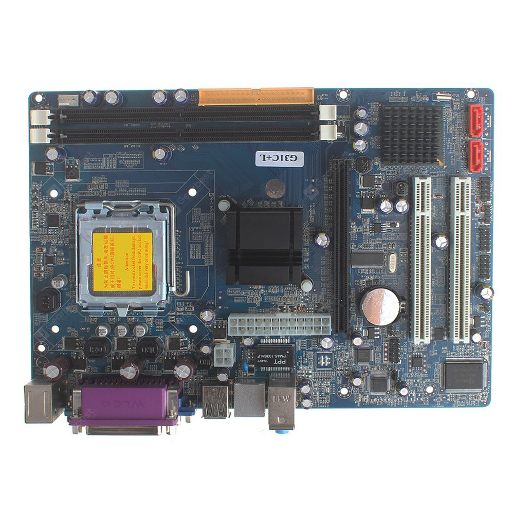 Intel G31 Micro ATX LGA 775 DDR2 Motherboard 8GB Dual - channel DIY Project COLORMIX