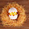 Touch Sensor DIY LED Night Light Egg Lamp with Cartoon Sticker - PINK