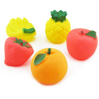 5pcs Fruit Shape Float Bath Shower Toy for Baby Infant