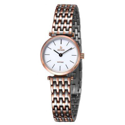 BUREI Retro Women Quartz Watch with Sapphire Mirror
