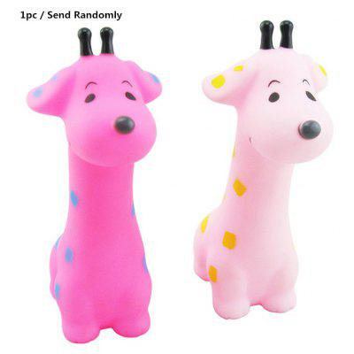 1pc Soft Giraffe Float Bath Shower Toy for Baby