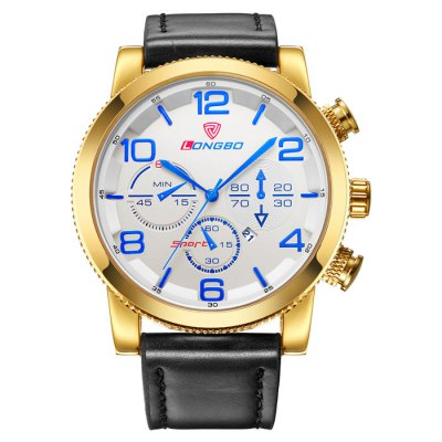 LONGBO Classical Decorative Sub-dial Men Quartz WatchMens Watches<br>LONGBO Classical Decorative Sub-dial Men Quartz Watch<br><br>Band material: Leather<br>Band size: 25.8 x 2.27 cm / 10.16 x 0.89 inches<br>Brand: Longbo<br>Case material: Alloy<br>Clasp type: Pin buckle<br>Dial size: 4.75 x 4.75 x 1.35 cm / 1.87 x 1.87 x 0.53 inches<br>Display type: Analog<br>Movement type: Quartz watch<br>Package Contents: 1 x LONGBO Classical Men Quartz Watch<br>Package size (L x W x H): 28.00 x 8.00 x 3.50 cm / 11.02 x 3.15 x 1.38 inches<br>Package weight: 0.143 kg<br>Product size (L x W x H): 25.80 x 4.75 x 1.35 cm / 10.16 x 1.87 x 0.53 inches<br>Product weight: 0.083 kg<br>Shape of the dial: Round<br>Special features: Decorative sub-dial<br>Watch color: Black, Gold, White + Black, Gold + Blue<br>Watch style: Fashion<br>Watches categories: Male table<br>Water resistance: Life water resistant