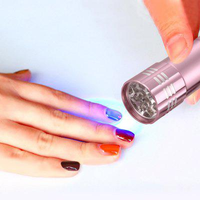 Mini Flashlight Shaped Purple LED Nail Lamp