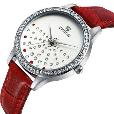 SKONE Fashion Imported Movement Women Quartz WatchWomens Watches<br>SKONE Fashion Imported Movement Women Quartz Watch<br><br>Available Color: Black,Coffee,Red,White<br>Band material: PU Leather<br>Band size: 22.7 x 1.4 cm / 8.94 x 0.55 inches<br>Brand: Skone<br>Case material: Alloy<br>Clasp type: Pin buckle<br>Dial size: 3.7 x 3.7 x 0.75 cm / 1.46 x 1.46 x 0.30 inches<br>Display type: Analog<br>Movement type: Quartz watch<br>Package Contents: 1 x SKONE Fashion Women Quartz Watch<br>Package size (L x W x H): 28.00 x 8.00 x 3.50 cm / 11.02 x 3.15 x 1.38 inches<br>Package weight: 0.042 kg<br>Product size (L x W x H): 22.70 x 3.70 x 0.75 cm / 8.94 x 1.46 x 0.3 inches<br>Product weight: 0.036 kg<br>Shape of the dial: Round<br>Watch style: Fashion<br>Watches categories: Female table<br>Water resistance: Life water resistant