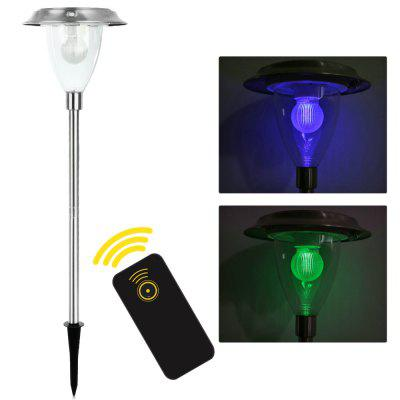Solar Garden Pathway LED Stake Light Sensor Remote Control