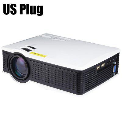 Gearbest SD50 LCD Projector-1000 Lumens 800 x 480 Pixels AV / VGA / HDMI / USB Connectivity Support 1080P