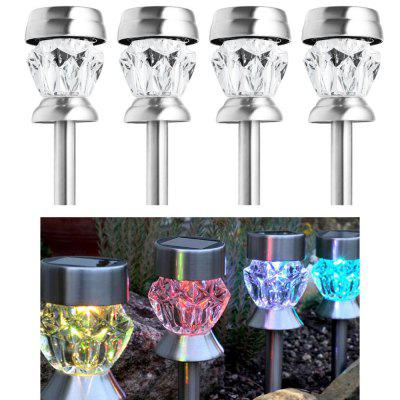 4PCS Solar Garden Path LED Stake Light