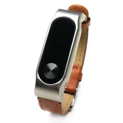Leather Smart Wrist Watch Strap for Xiaomi Miband 2