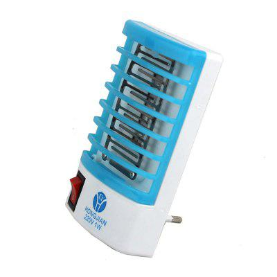 2 in 1 Mini LED Lamp Mosquito Killer  -  220VOther Home Improvement<br>2 in 1 Mini LED Lamp Mosquito Killer  -  220V<br><br>Color: Blue<br>LED Quantity: 4<br>Material: Electronic Components, Plastic<br>Package Contents: 1 x 2 in 1 Mosquito Killer LED Lamp<br>Package Quantity: 1<br>Package size (L x W x H): 9.50 x 8.00 x 18.00 cm / 3.74 x 3.15 x 7.09 inches<br>Package weight: 0.1000 kg<br>Power (W): 1W<br>Product size (L x W x H): 6.60 x 6.50 x 11.80 cm / 2.6 x 2.56 x 4.65 inches<br>Product weight: 0.0650 kg<br>Voltage (V): 220V