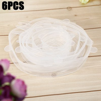 6PCS Reusable Silicone Stretch Storage Lids