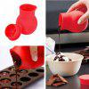DIY Silicone Chocolate Melting Pot Mold - RED