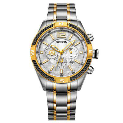 ROSDN Fashion Men Sapphire Mirror Sports Quartz Watch