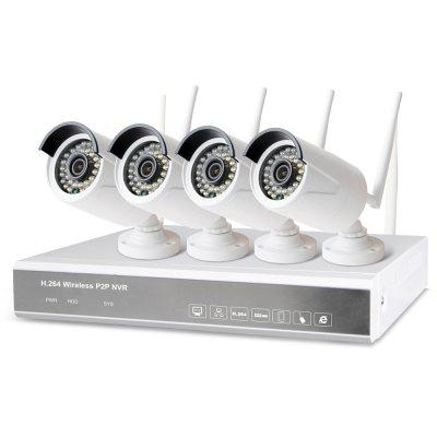 4 Channel Wireless P2P NVR Kit IP Camera