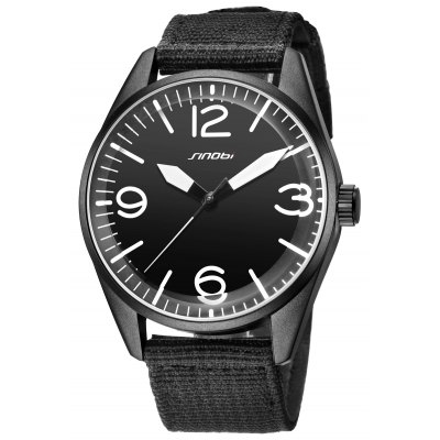 SINOBI Fashion Contrast Color Pointer Men Quartz Watch