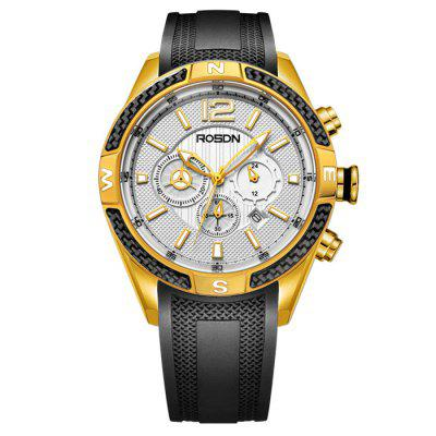 ROSDN Fashion Men Sapphire Mirror Sports Quartz WatchMens Watches<br>ROSDN Fashion Men Sapphire Mirror Sports Quartz Watch<br><br>Available Color: Black,Gold,Rose Gold,Silver<br>Band material: Silicone<br>Band size: 24.5 x 2.2 cm / 9.65 x 0.87 inches<br>Case material: Stainless Steel<br>Clasp type: Pin buckle<br>Dial size: 4.4 x 4.4 x 1.3 cm / 1.73 x 1.73 x 0.51 inches<br>Display type: Analog<br>Movement type: Quartz watch<br>Package Contents: 1 x ROSDN Fashion Men Sports Quartz Watch<br>Package size (L x W x H): 28.00 x 8.00 x 3.50 cm / 11.02 x 3.15 x 1.38 inches<br>Package weight: 0.4580 kg<br>Product size (L x W x H): 24.50 x 4.40 x 1.30 cm / 9.65 x 1.73 x 0.51 inches<br>Product weight: 0.1050 kg<br>Shape of the dial: Round<br>Special features: Luminous<br>Watch style: Fashion<br>Watches categories: Male table