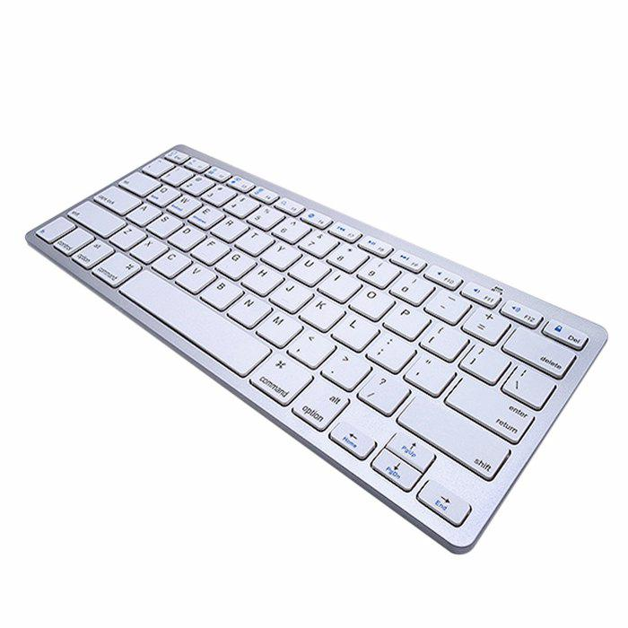 Super Slim Portable Bluetooth Wireless 78 Keys Keyboard Dry Battery