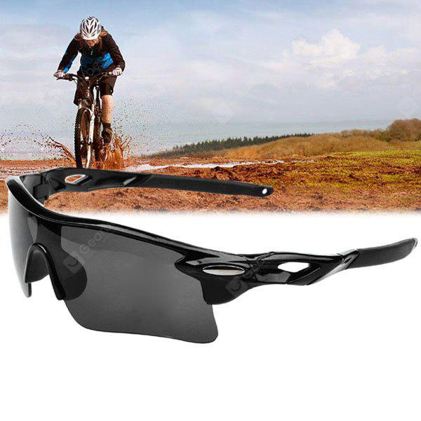 GRAY UV400 Sports Sun Glasses Explosionproof Eyes Protector for Outdoors Use