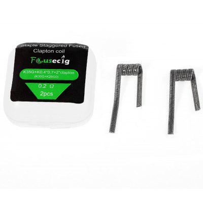 Original Focusecig 0.2ohm Staple Staggered Fused Clapton Coil