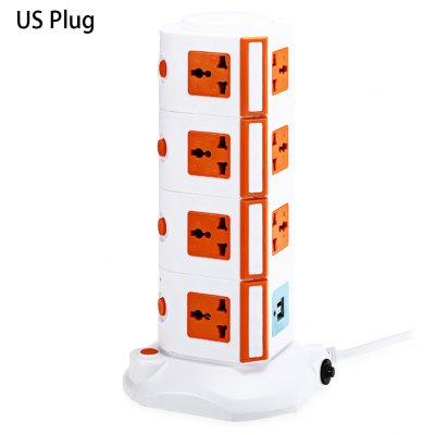 XINGNIU 2 USB Charger + 15 Triporate Ports Socket