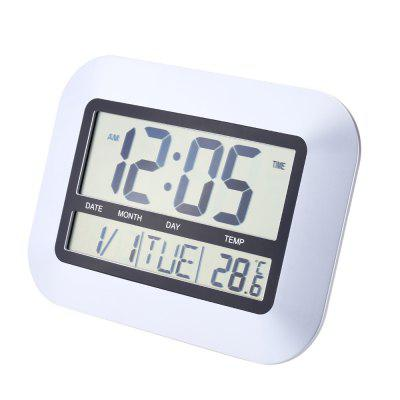 TS - H128Y Electronic Wall Alarm Clock Temperature Measurement