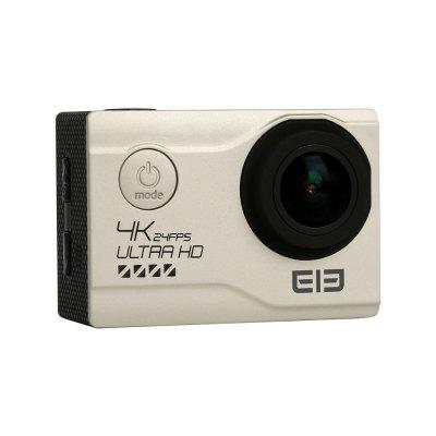Elephone EleCam Explorer Elite 4K Action CameraAction Cameras<br>Elephone EleCam Explorer Elite 4K Action Camera<br><br>Aerial Photography: Yes<br>Anti-shake: Yes<br>Audio System: Built-in microphone/speaker (AAC)<br>Auto Focusing: Yes<br>Battery Capacity (mAh): 1050mAh<br>Battery Type: External<br>Brand: Elephone<br>Brand Name: Elephone EleCam<br>Camera Timer: Yes<br>Charge way: AC adapter,USB charge by PC<br>Charging Time: 2H<br>Chipset: Novatek 96660<br>Chipset Name: Novatek<br>Delay Shutdown: Yes<br>Exposure Compensation: +0.3,+0.5,+1,+1.5,+2,-0.5,-1,-1.5,-2,0<br>Features: Wireless<br>Function: Anti-Shake, Auto Focusing, Camera Timer<br>Image Format: JPEG<br>Interface Type: TV-Out, Micro USB<br>Language: English,French,German,Italian,Portuguese,Russian,Simplified Chinese,Spanish<br>Lens Diameter: 20mm<br>Max External Card Supported: TF 64G (not included)<br>Microphone: Built-in<br>Model: Explorer Elite<br>Night vision: No<br>Package Contents: 1 x Action Camera, 1 x Waterproof Cover, 1 x Adhesive Tape, 1 x Cleaning Cloth, 1 x Bandage, 1 x Bicycle Stand, 1 x Accessory Seat (1), 1 x Accessory Seat (2), 1 x Steel Rope, 1 x Ribbon, 1 x Fixing B<br>Package size (L x W x H): 24.50 x 11.00 x 8.30 cm / 9.65 x 4.33 x 3.27 inches<br>Package weight: 0.7250 kg<br>Power Supply: 5V 1A<br>Product size (L x W x H): 5.92 x 4.10 x 2.98 cm / 2.33 x 1.61 x 1.17 inches<br>Product weight: 0.0550 kg<br>Screen resolution: 960 x 240<br>Screen size: 2.0inch<br>Screen type: TFT<br>Standby time: 100H<br>Time lapse: Yes<br>Time Stamp: Yes<br>Type: Sports Camera<br>Type of Camera: 4K<br>Video format: MP4<br>Video Frame Rate: 120fps,30FPS<br>Video Output: HDMI<br>Video Resolution: 1080P (1920 x 1080),2K(2560 x 1440)30fps,4K (3840 x 2160),720P (120fps)<br>Waterproof: Yes<br>Waterproof Rating: 30M<br>White Balance Mode: Auto<br>Wide Angle: 170 degree wide angle<br>WIFI: Yes<br>WiFi Distance: 50M<br>WiFi Function: Image Transmission,Remote Control<br>Working Time: 75mins (1080P)