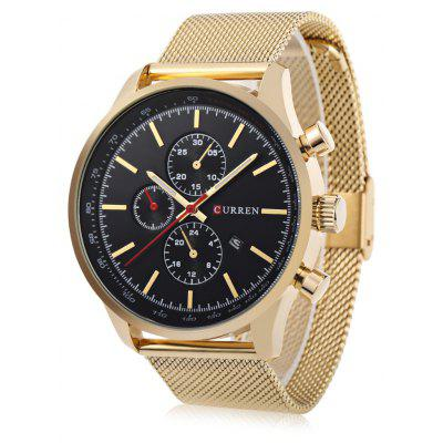 Buy BLACK AND GOLDEN CURREN 8227 Business Decorative Sub-dial Men Quartz Watch for $16.86 in GearBest store